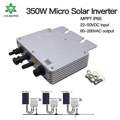 350W 36V Micro solar Inverter On Grid tie Inversor Ip65 Inverter Pure Sine Wave 24V 110V 220V Regulator For Home Solar Panel