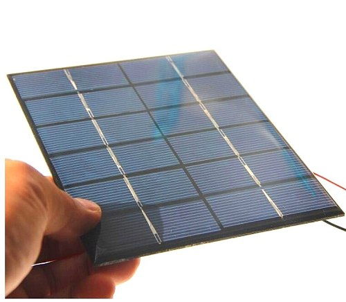 2W 6V Epoxy Solar Cell Polycrystalline Solar Panel Module with Cable DIY System Solar Charger For 3.7v Battery 2pcs