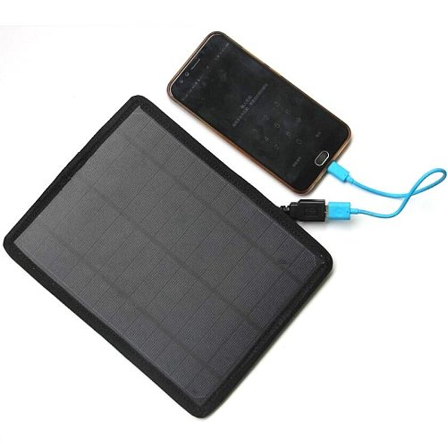 10W Solar Panel USB Port Camping Emergency Power Supply Outdoor Solar Generator Durable Fast Charger