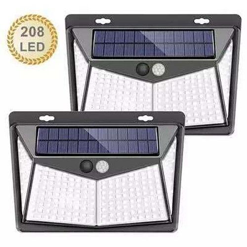 Solar LED Street Light For Home Garden Fence PIR Motion Sensor Detection Wall Lamps 208 SMD2835 leds Solar Light Waterproof