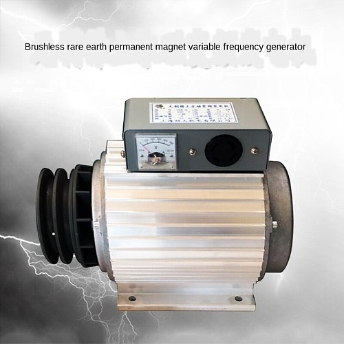 Single-Phase 220V Brushless Rare Earth Permanent Magnet Frequency Conversion Generator 5kW