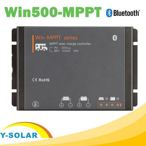 RV 20A MPPT Solar Controller 12V 24V Charge Regulator MPPT Boost Float Charger with BLE Modules LED Indicator  for Motor Homes