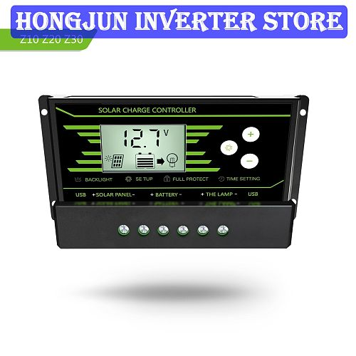 hot selling Z20a 20A 12V/24V PWM Dual USB Current 2.5A with Backlight Solar Controller