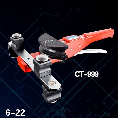 6-22mm 90 Degree hand tool air conditioning aluminum brass metal pipe bender bender stainless steel tube bending device