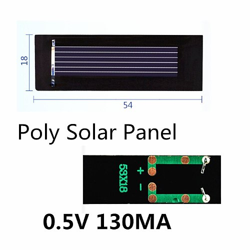 Mini Poly Solar Panel 0.5V 130MA for DIY handmade fan cap