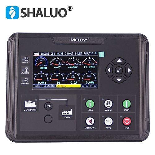 Mebay DC60D Generator Set Controller LCD display generator controller board genset parts DC60DR with RS485 interface