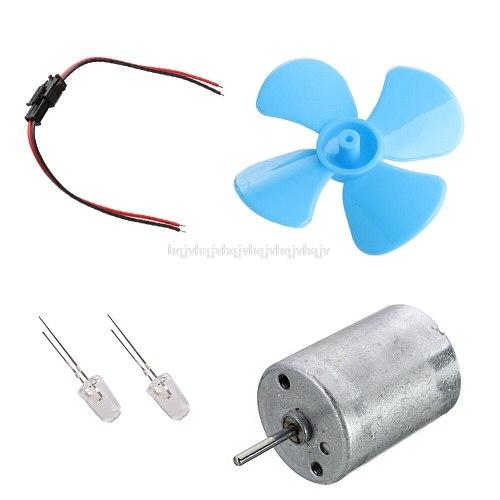 Micro Wind Turbines Generator Mini Motor With Blades LED DIY Kit N02 19 Dropship