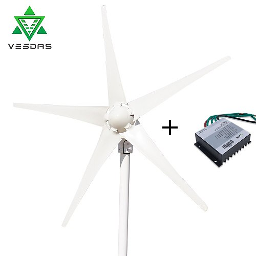 DC 12V 24V 400W Wind Turbine Generator Windturbine controller 2m/s Low Wind Start Speed for Home Boat With Charge Controller