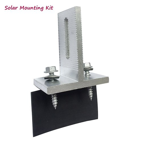 solar panel mounting bracket kit fixed on the house solar panel aluminum  L & T feet clamp  with screws on grid solar system
