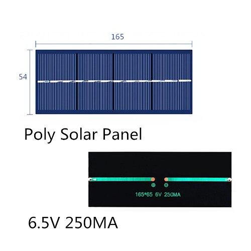 Mini Poly Solar Panel 6.5V 6V  250MA 1.5W for Solar Epoxy Assembly Flashlight Dedicated 165*65MM
