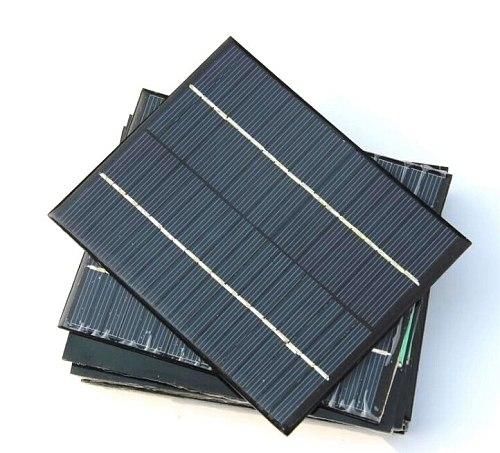 Min Epoxy Solar Cell Module 2W 18V Polycrystalline Solar Panel For 12V Battery Charger DIY System Education 136*110MM