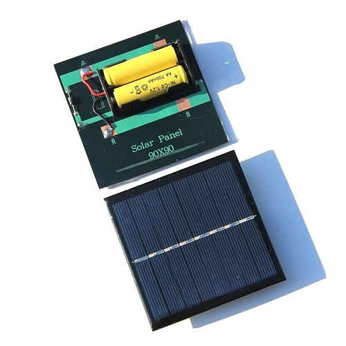 NEW 1W Solar Panel With Base For AA Battery 1W 4V Solar Cell For 1.2V 2xAA Rechargeable Battery Charging Directly New