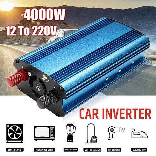 12V/24V to 220V 3000W/4000W Car Power Inverter Sine Wave USB Converter Solar Inverter Intelligent Voltage Display