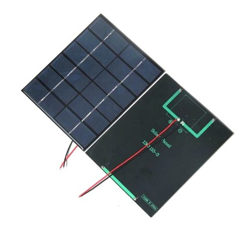hot selling 2W 6V Epoxy Solar Cell Polycrystalline Solar Panel Module with Cable DIY System Solar Charger For 3.7v Battery 2pcs
