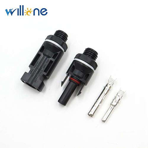 10 pair Solar Panel Mouted Connector for inverter M12 Thread Solar Panel Connector Pairs Male Female DC Solar Inverter Connector