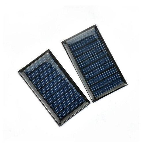 SUNYIMA 2PCS 5V 30mA Epoxy Solar Panel Polycrystalline Solar Cell Photovoltaic Panel Power Energy Module DIY Home Solar Sistem
