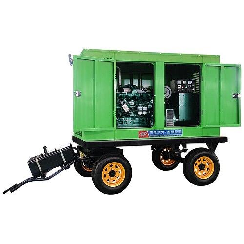 75kw Yuchai mobile Rainproof shed generator set