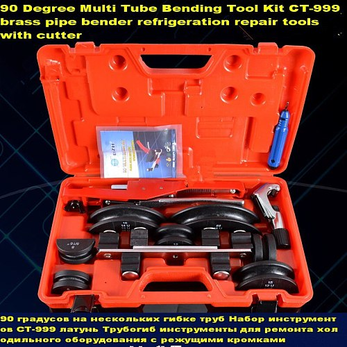 90 Degree 6-22mm Multi Tube Bending Tool Kit brass pipe bender refrigeration repair with cutter air conditioning pipe bend tools