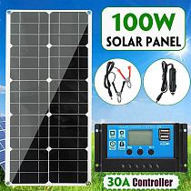 100W Solar Panel kit battery Charge + 30A Controller Caravan Boat Home Charger for Home/Yacht/RV/Caravan/Cabin/Boat