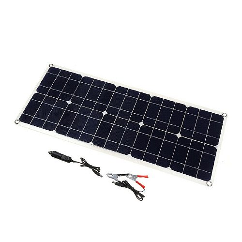 100W 18V Dual USB Solar Panel Battery Charger for Boat Car Home Camping Hiking