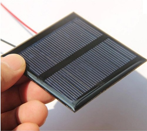 CHINA  0.6W 5.5V Solar Cell Polycrystalline Solar Panel DIY Solar Toy Panel Charger with 15CM Cable Wire Led Light 65*65*3MM