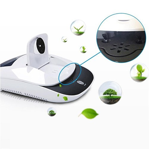 Solar Powered Car Negative Ion Diffuser Air Purifier Vehicle Phone Holder