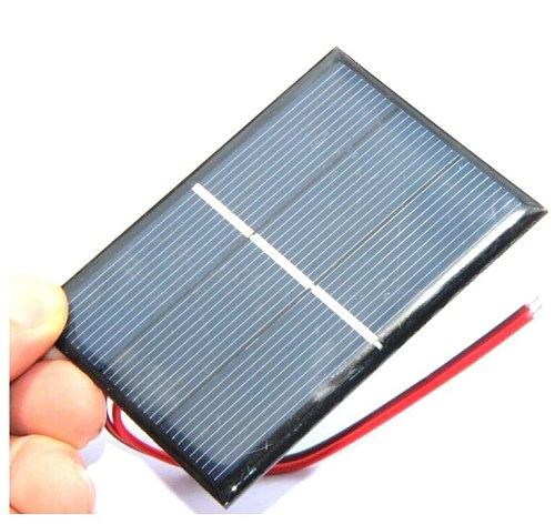 0.65W 1.5V 430Ma Mini Solar Cell Polycrystalline Solar Panel DIY Solar Charger System with 15CM Cable 60*80MM 5pcs