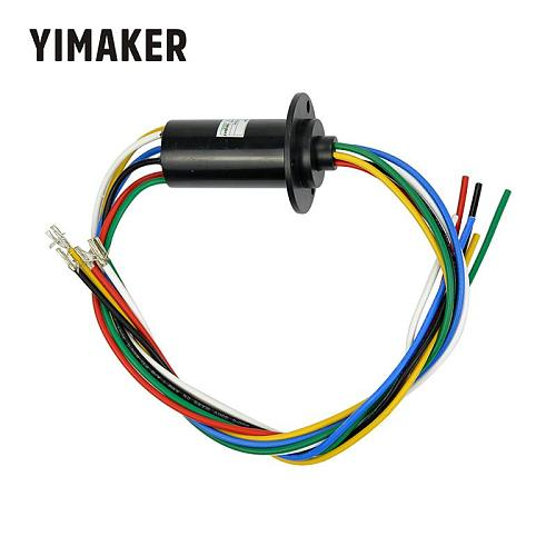 YIMAKER NEW 6 Way Each 30A 250Rpm 600 VDC/VAC Wind Generator Conductive Slip Ring FOR Wind Turbine