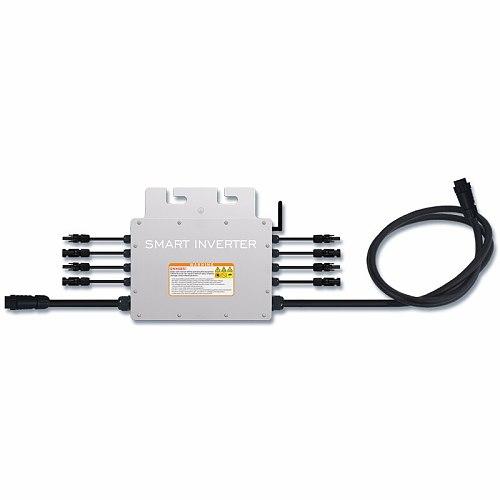 1400W Waterproof Grid Tie Inverter MPPT Pure Sine Wave DC18-50V Input AC120/230V Output Micro Inverter for 30V 36V Solar Panel