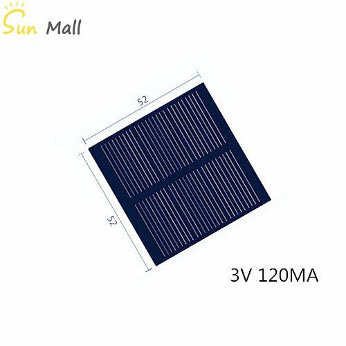 Mono Solar Panel 3V 120MA for DIY Toy/Solar Lawn Light Sensor Lights