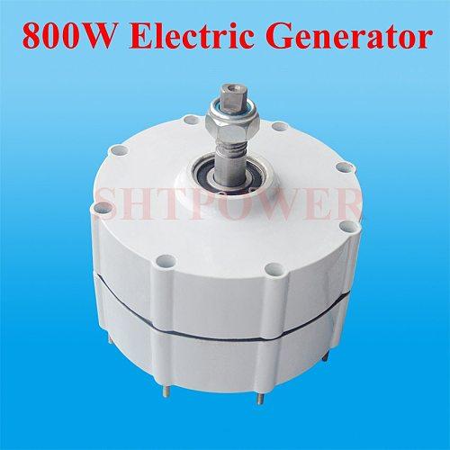 Free shipping 800W generator,three phase AC alternator 600W/300W wind turbines generator system DIY 12V/24V48V