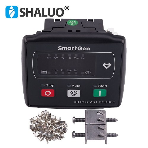 MGC120 small genset controller co auto start and stop ATS switching single genset modul LED display diesel generator parts