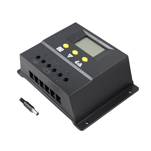 80A Solar Charge Controller 12V 24V 1000W 2000W Solar Panel LCD Screen Display PWM Charging for Off Grid PV Controller Solar