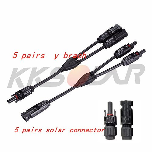 5Pair  MCY2 Y Branch connector mcy201 Terminals 2 Male 1 Female and 2 Female 1 Male Solar Panel Cable Branch Connector