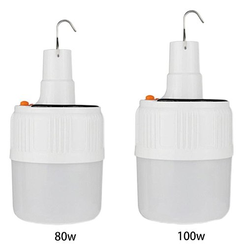 80/100W Solar LED Light Bulb Portable Energy Saving LED Lantern Light Night Lamp