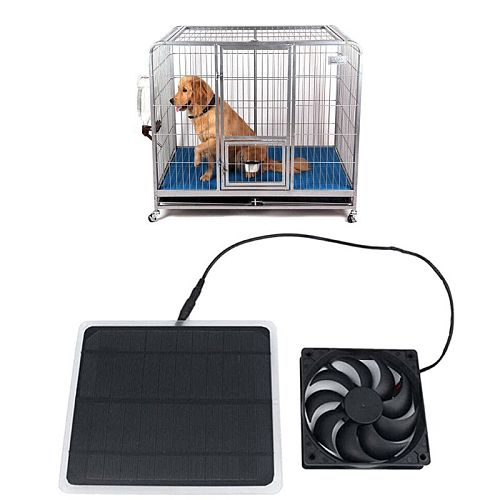 Mini Universial Solar-Powered Fan Ventilator For Dog Greenhouse Chicken House Energy-saving Cooling