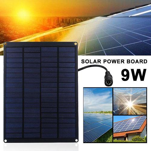 Reusable Solar Cells DIY Polysilicon Environmental Home Improvement Solar Charging Equipment Durable Car Camp 9W Solar Panel