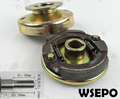 Top Quality! Single Groove Belt Clutch fits for 168F/170F/GX200 Gas Engine with 20mm shaft output used for water pump/cutter