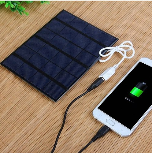 6V 3.5W Solar Charger Polycrystalline Solar Cell Solar Panel USB Solar Mobile Charger For Power Bank
