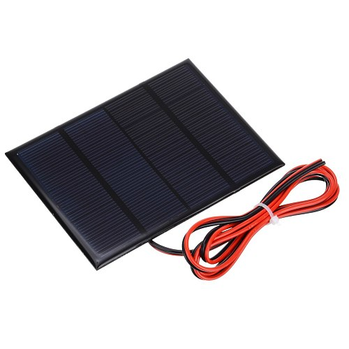 1pcs Portable 12V 1.5W Mini Solar Panel System Small Cell Phone Module Charger With Wire DIY Solar Panel