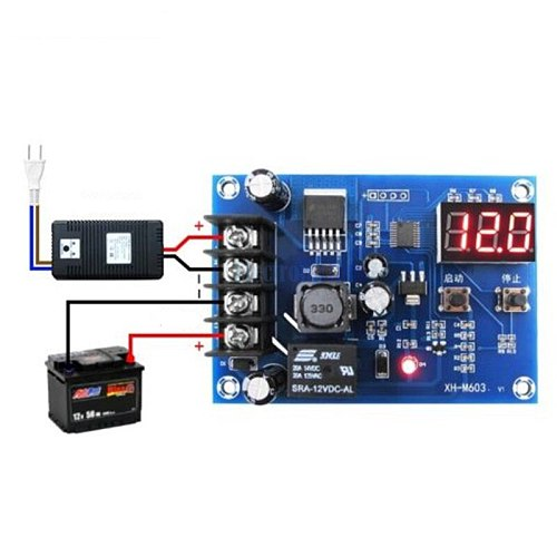 Battery Charging Control Board,Charging Protection Board,Charge Controller Protection Switch for DC12-24V Lead Acid Battery an