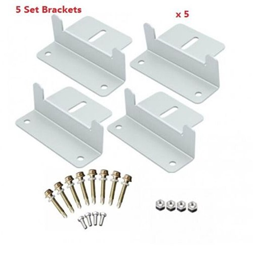 Z Style Solar Panel Mounting Brackets 5 Sets with Nuts and BoltFor RV Boat Off Grid Aluminum