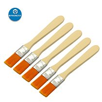 5Pcs Soft Cleaning Brush Keyboard Computer PC Dust Cleaner Wood Handle for Mobile Phone PCB Electronics Repair Tool Set