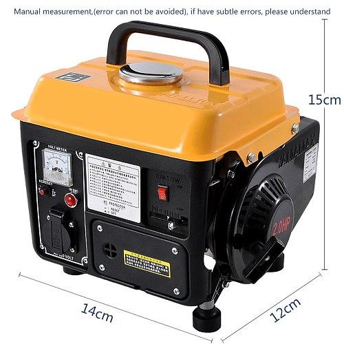 Low Noise Gasoline Generator Portable Household Miniature 2-stroke Single Phase Gasoline Generator 110V/220V 700W 63CC