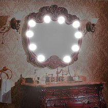 USB LED Vanity Mirror Lights Makeup Lamp 10 Bulbs Kit For Dressing Stepless Dimmable Hollywood Adjustable Comestic Lamp