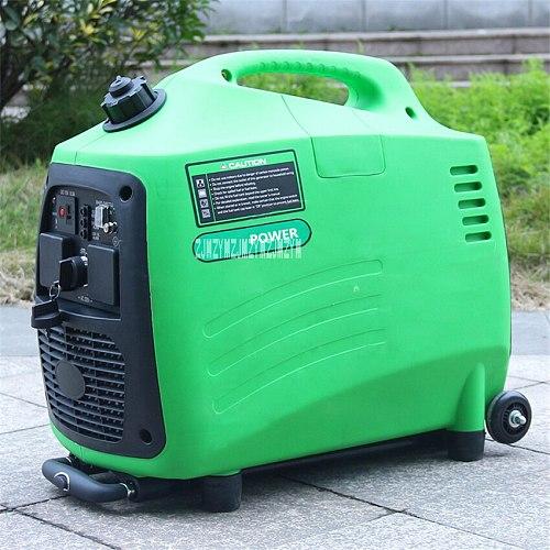 Small Household Car Outdoor Portable Gasoline Generator Low Noise Gasoline Generator Digital Inverter Generator 110V/220V 2600W