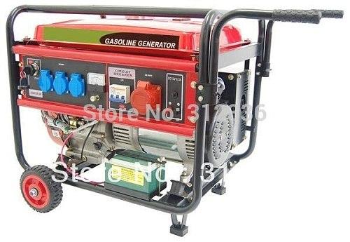 Sea shipping  generator Three Phase 6500EW3  electric starting with wheel 5kW 188F GX390 13hp 4 stroke CE EPA CIQ SASO SONCAP