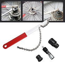 4 in 1 Bicycle Freewheel Disassembly Wrench Chain Whip Cassette Sprocket Remover Tool Freewheel Repair Tools Bicycle Chain