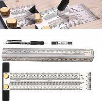 Woodworking Scribe 180-400mm T-type Ruler Hole Scribing ruler crossed-out tool Line Drawing Marking Gauge DIY Measuring Tool