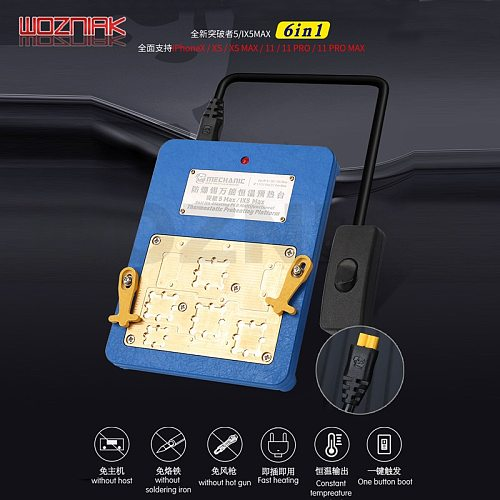 Mechanic ix5 Max for IPHONE X XS XSMAX 11 PRO MAX Motherboard layering Chip CPU Remove the preheating thermostatic table
